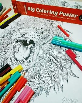 Mewarnai Big Coloring Poster My Own World